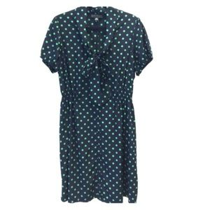 Forever 21 Plus Navy/Green Pussycat Bow Dress 3X